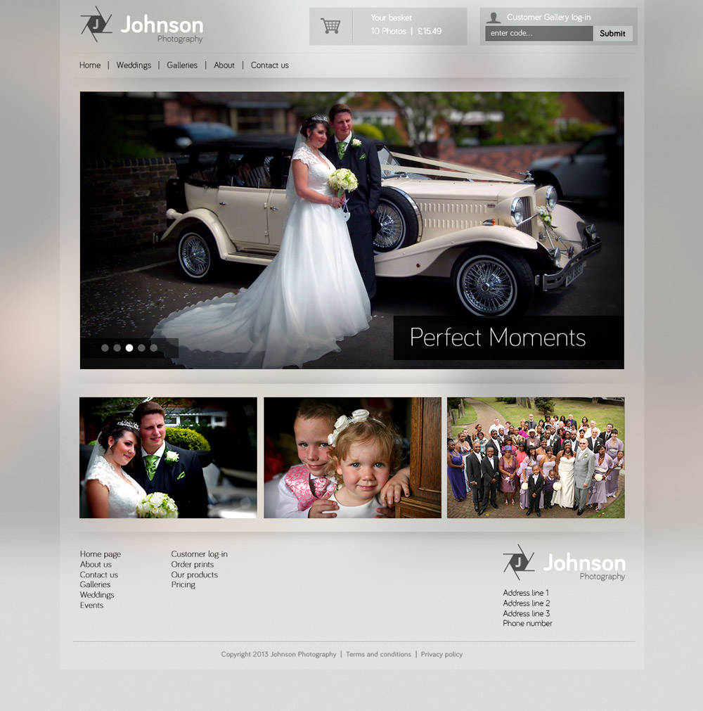 Johnsons photography site design